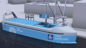 """""""Морская Тесла"""": Норвежцы готовят к спуску на воду беспилотный электрический сухогруз"""