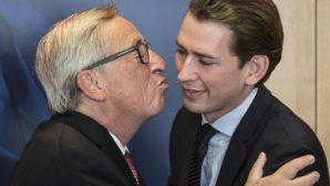 Будущий канцлер Австрии не стал целоваться с главой Еврокомиссии
