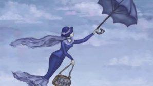 В Турции штормовой ветер унес в небо мужчину с зонтом