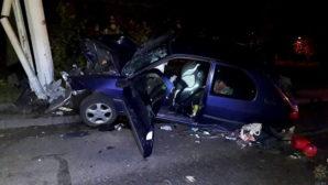 Нетрезвый за рулем – опасность: в Минске водитель врезался в столб