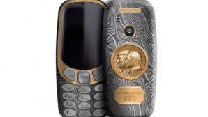 Путина и Трампа отлили в золоте на Nokia 3310 и iPhone 7