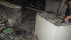 В одном из продмагов Мстиславля ночью загорелся холодильник