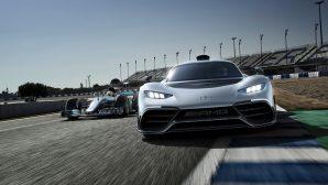 На автосалоне во Франкфурте показали легковой Мерседес с двигателем от Формулы-1