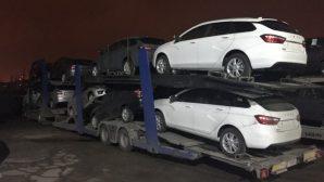В Минск прибыла первая партия универсалов Lada Vesta