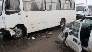 В Гомеле пьяный бесправник врезался в автобус