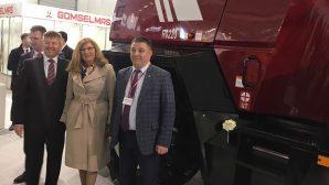 Министру сельского хозяйства Словакии показали новые белорусские комбайны